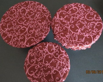 Reusable Bowl Covers, Elastic Bowl Lids, Eco Friendly Lids, Chocolate Candy Bowl Covers