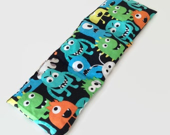 Heat Therapy Rice Bag, Hot/Cold Pack - Silly Monsters - READY TO SHIP