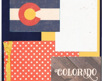 Travel  Colorado, 2 Page Scrapbooking Layout Kit