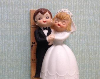 Vintage Wedding Cake Topper Bride and Groom Bell Lefton's