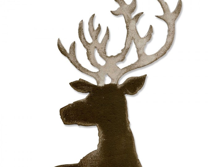 New! Sizzix Tim Holtz Bigz Die - Dashing Deer 661606