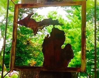 Metal Michigan Mirror
