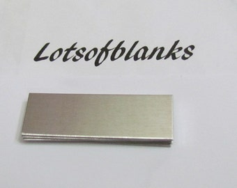 5/8  x 2   -18G Aluminum  Ring Blanks - Easy to bend and Stamp -  hand stamping blanks - metal blanks - jewelry blanks