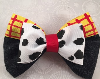 Woody- Toy Story Inspired Bow