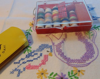 Two Small Vintage Sewing Kits Sewing Supplies Vintage Sewing Supplies Sewing Notions
