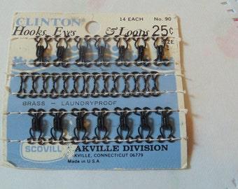 Vintage Hooks Eyes And Loops Vintage Sewing Supplies