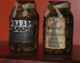 Witch Luminare Jars