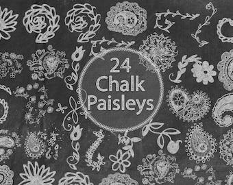 Chalk Paisleys