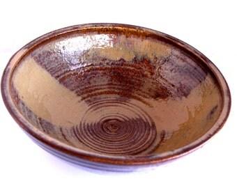 Brown & Tan Salad Bowl