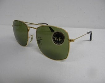 New Vintage B&L Ray Ban Fashion Metals Style 4 Gold RB3 Green W0996 Sunglasses USA