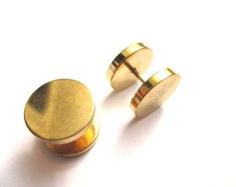Gold  fake plug gauge from 6mm to 12 mm