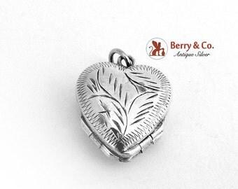 SaLe! sALe! Heart Shape Double Locket Sterling Silver