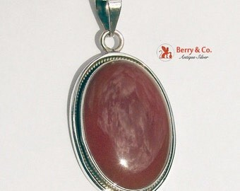 SaLe! sALe! Oval Pendant Agate Sterling Silver