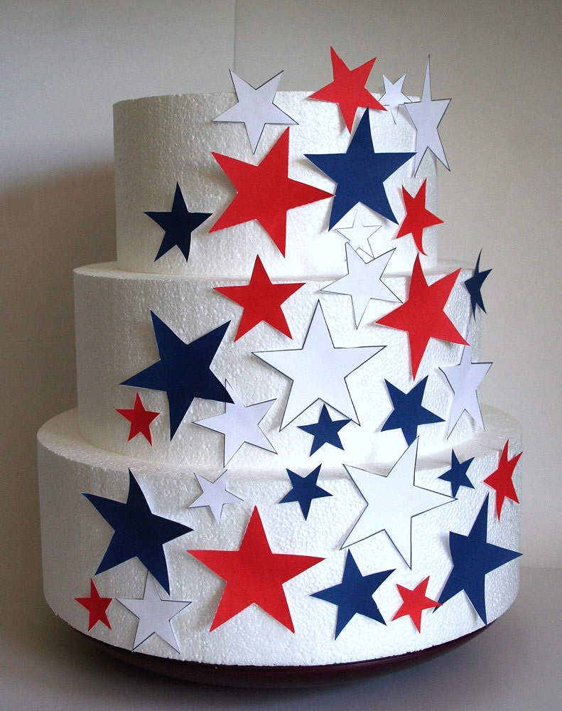 Edible Cake Decorations Stars : Edible Stars Cake Decorations 4th of July Cake Decorations