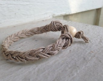 Hemp Bracelet; Macrame Hemp Bracelet; Braided Hemp Bracelet