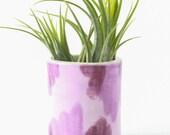 Succulent Planter, Ceramic Vase, Bud Vase, Gifts for Home, Air Plant Holder, Purple Home Decor, Air Plant Planter, Tabletop Decor