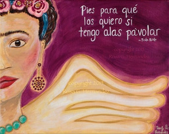 Frida Kahlo, Frida quote, Reproduction Print, Cards,  Women Artist, Mexican artist, Mexican culture, Latino Cards, Spanish Quote,