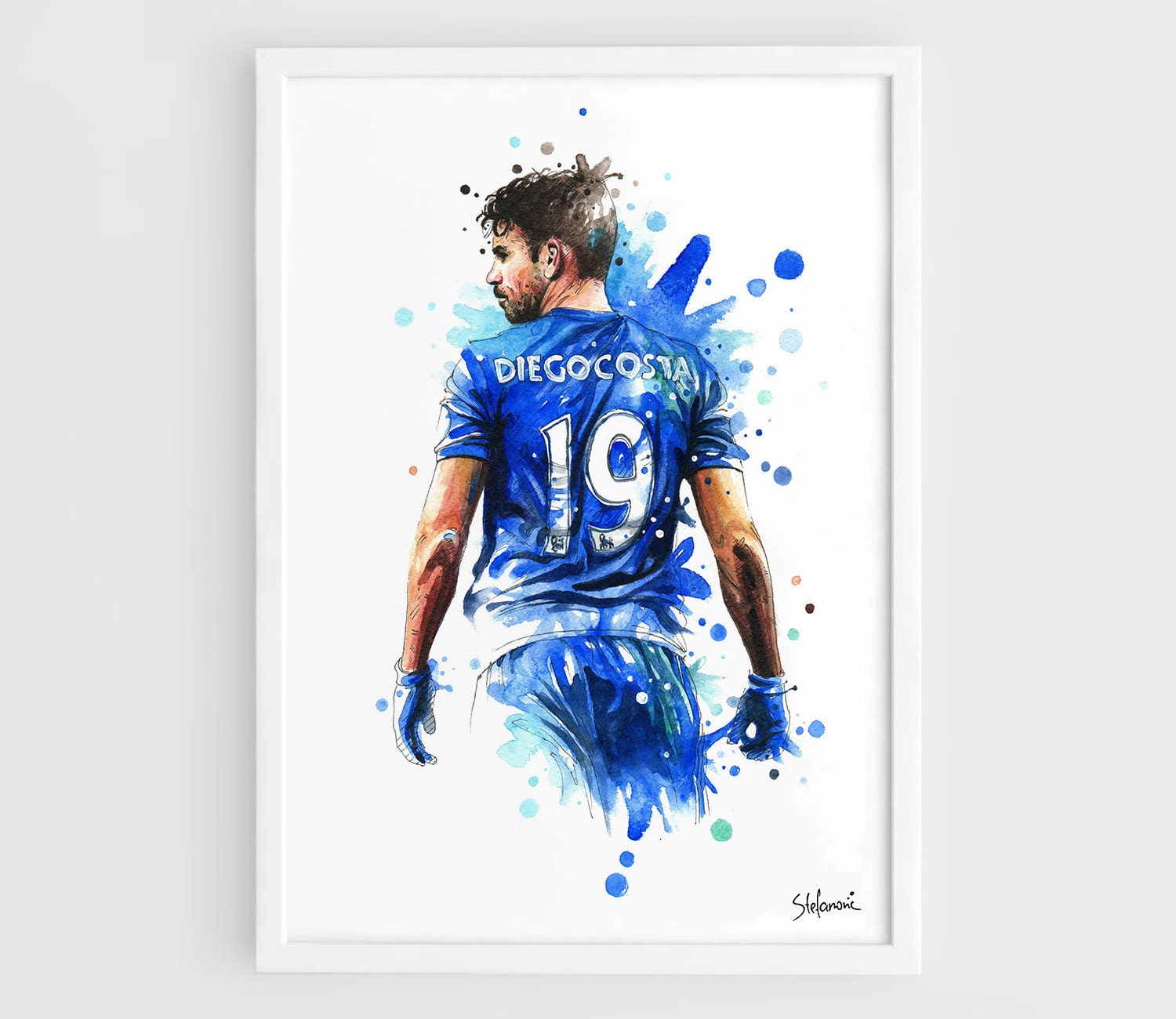 diego costa chelsea fc a3 wall art print poster of the. Black Bedroom Furniture Sets. Home Design Ideas