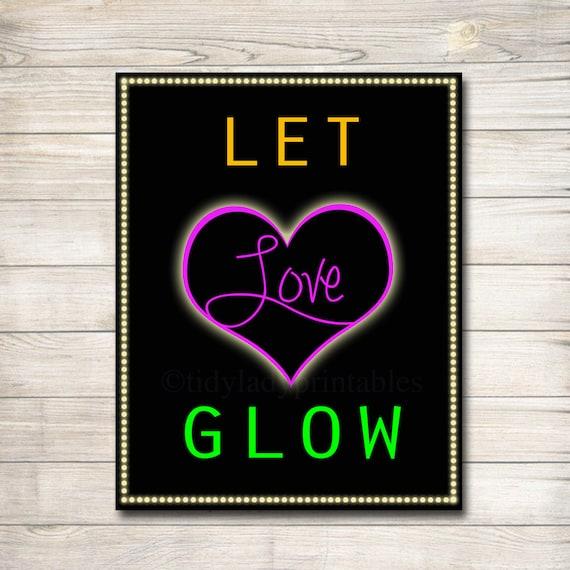 Let Love Glow Wedding Glow Stick Sign Wedding Reception Send