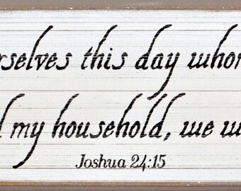 Hand made sign of Joshua 24:15.