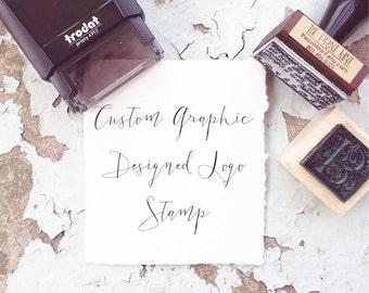 Custom Graphic Designed Logo Stamp, Custom Logo Stamp, Business Card Stamp, Personalized Stamp, Business Stamp, Custom Rubber Stamp