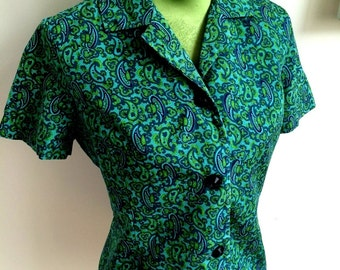 1950s/1960s style Psychedelic shirt *Free Shipping*