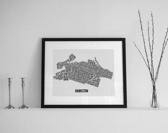 Hamilton Ontario Neighborhoods City Map - Hamilton Art