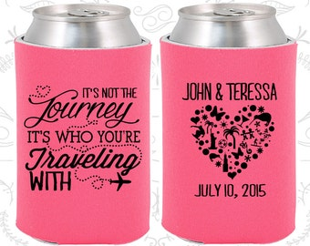 Hot Pink Wedding, Can Coolers, Hot Pink Wedding Favors, Hot Pink Wedding Gift, Hot Pink Wedding Ideas (454)
