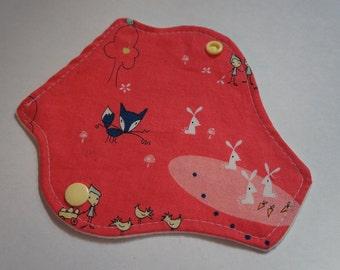 reusable cloth menstrual pad / panty liner / 'critters'