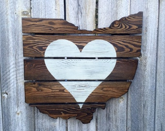 Recycled Pallet Ohio Heart