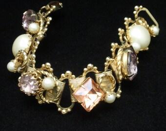 Chunky Pastel Stones Bracelet Vintage