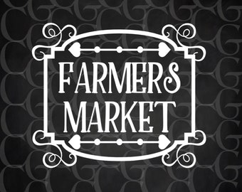 Farmers Market Country Fresh Produce Farm Rustic  Wood Sign 12 x 12 Stencil #257