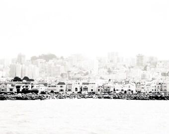 "San Francisco Photography, Art, Bay Photo, San Francisco Skyline, Pastels, Vintage Photography, San Francisco Architecture - ""Bay View"""