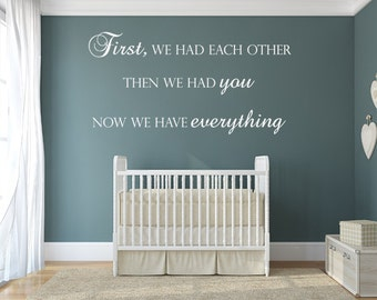 Baby Room Decals Etsy - Custom vinyl wall decals nursery