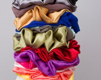 Set of 15 - Scrunchies  with quality elastic band .Hair Fabric Hair Accessory - WHOLESALE