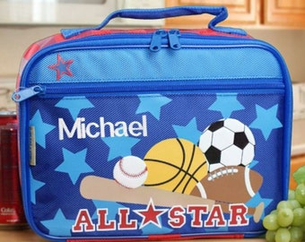 Personalized Embroidered Sports Lunch Box