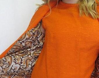Mod Suit Mod Dress Ivan Fredrich's Burnt Orange Suit 1960's Dress Coat