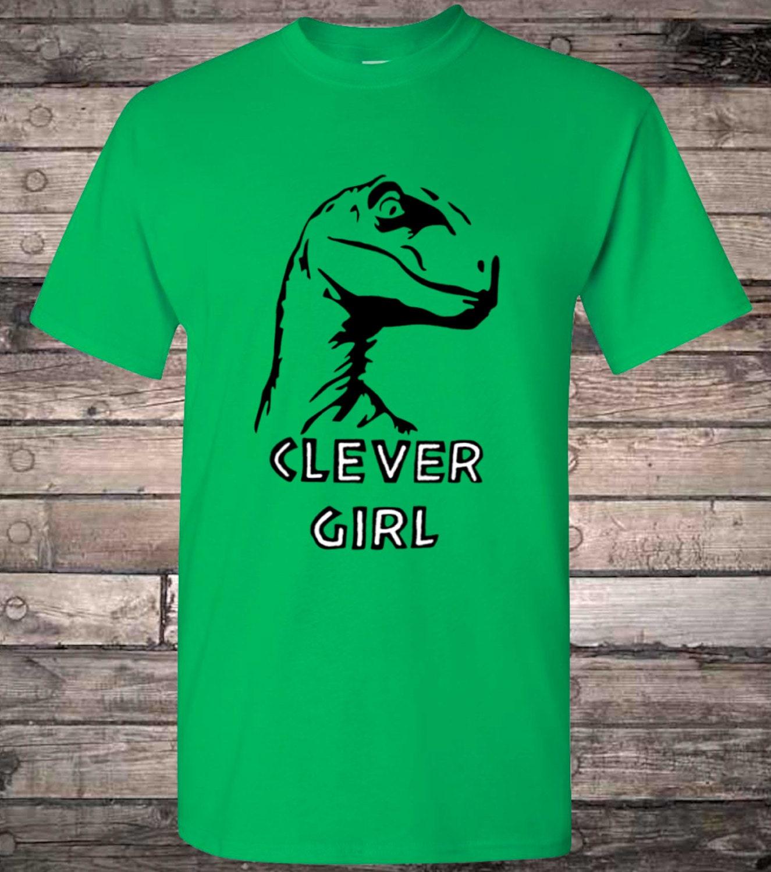 Clever Girl Blue: Jurassic Velociraptor Clever Girl Dinosaur T-Shirt