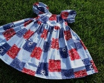 Bandana Peasant dress, Cowgirl dress, boutique style dress, 3 mo-6T, country dress, toddler dress, farm dress, fall dress