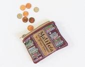 Matilda Coin Purse // Roald Dahl // Literary Classics Zipper Pouch // Literary Gift