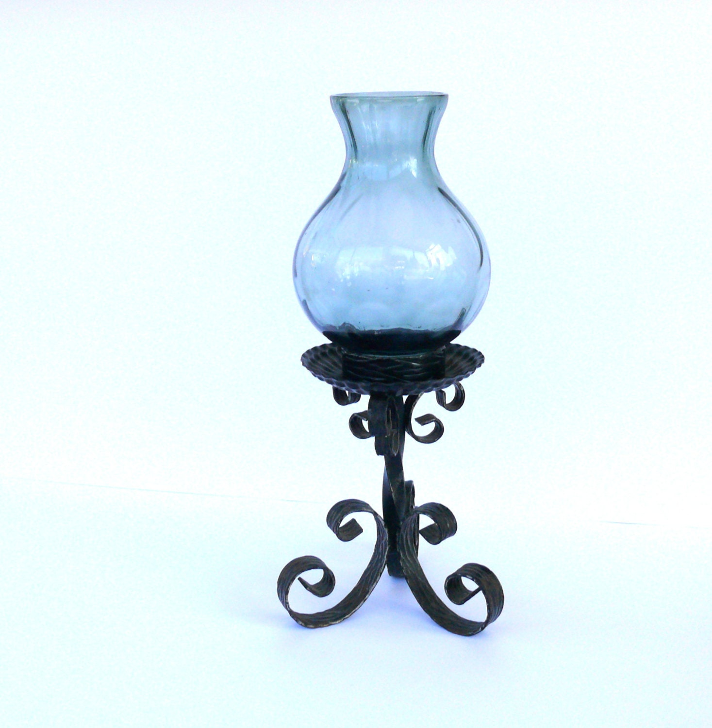 Vintage Rustic Wrought Iron Candle Holder Metal Candle Stick