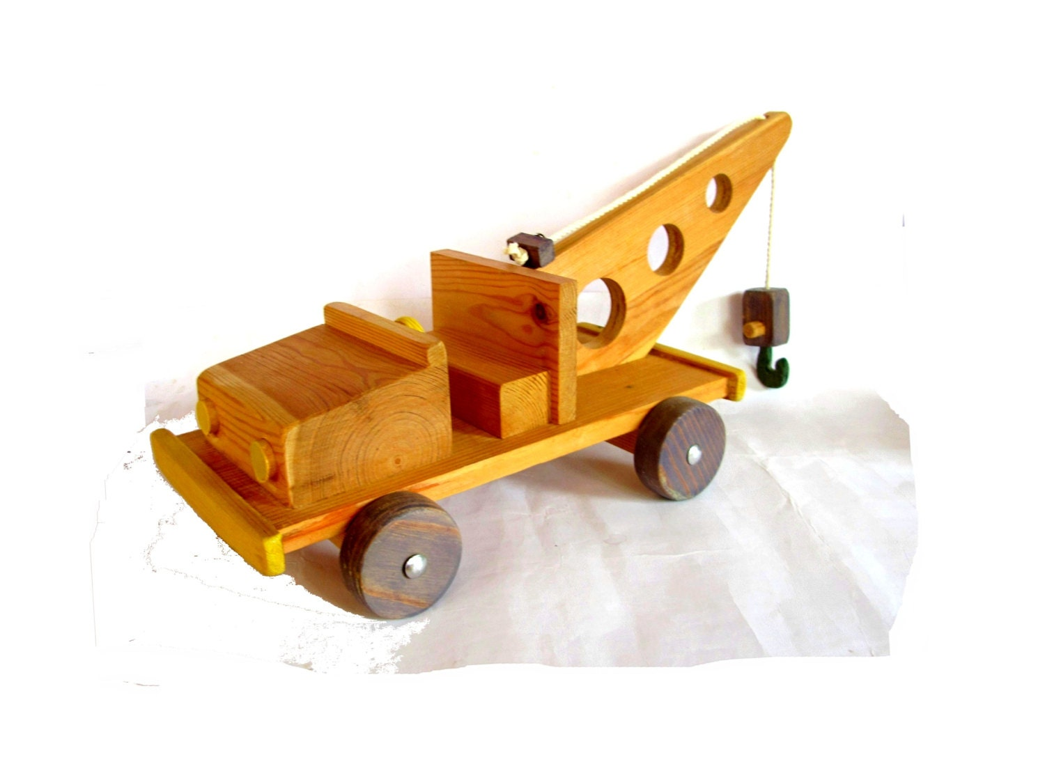 Toy Trucks For Boys : Wood toy wooden hand crafted truck boys