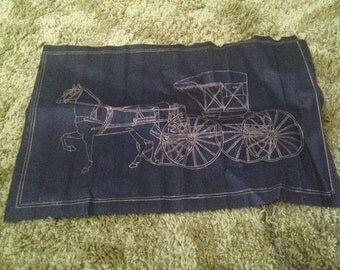 Horse carriage fabric decor