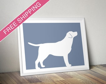 Labrador Retriever Print (version 1) - Labrador Retriever Silhouette - dog portrait, modern dog home decor