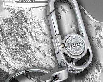 Jeep Carabiner Clip Keyring Keychain