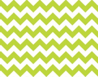 Small Lime Chevron 1 Yard Riley Blake Fabric Cotton