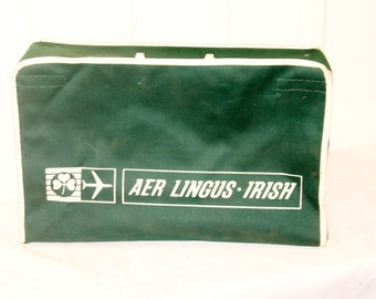Vintage Aer Lingus Suitcase, Carry All, Carry On