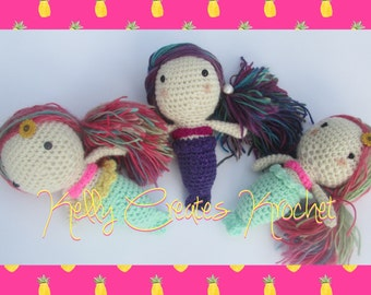 Mini Mermaid crochet doll