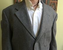 Vintage Designer Gray Flannel Suit - 44R