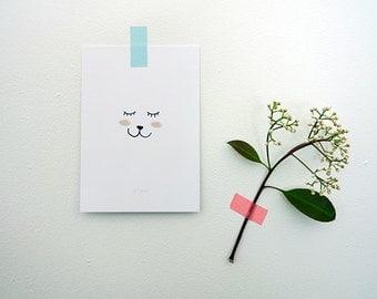 """Postcard """"Je T"""